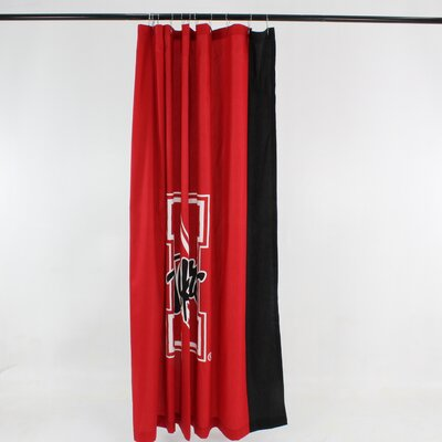 NCAA Cotton Shower Curtain NCAA: Nebraska Cornhuskers