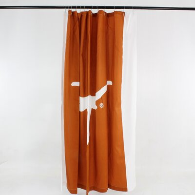 NCAA Cotton Shower Curtain NCAA: Texas Longhorns Big Logo