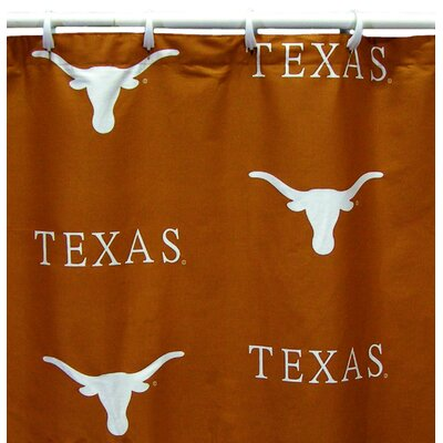 NCAA Cotton Shower Curtain NCAA: Texas Longhorns All Over Print