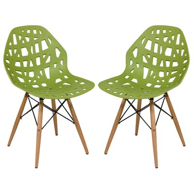 Macalester Solid Wood Dining Chair Color: Green