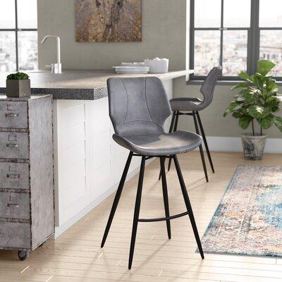 Dupree 26 Bar Stool Upholstery: Vintage Gray