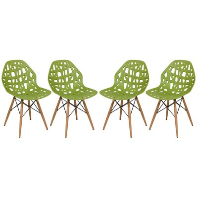 Macalester Side Chair Color: Green