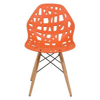 Macalester Solid Wood Dining Chair Color: Orange