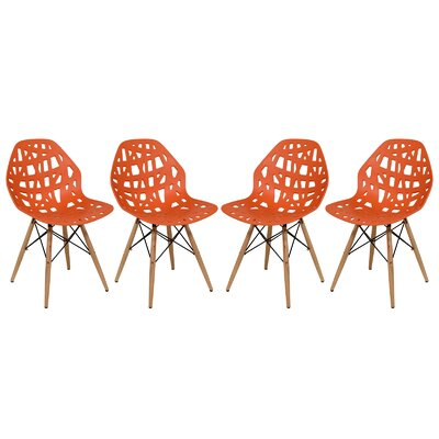 Macalester Side Chair Color: Orange