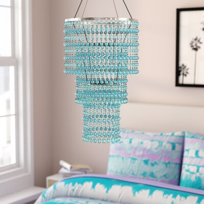 Kordell Triple Crown 1-Light Crystal Pendant Shade Color: Baby Blue