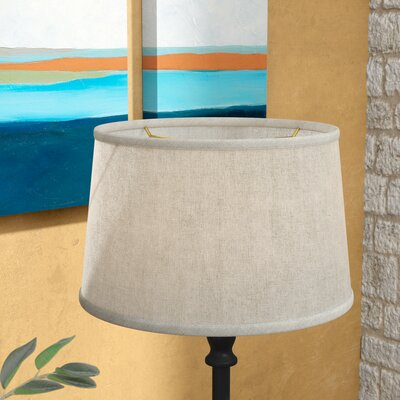 16 Shantung Fabric Drum Lamp Shade Color: Oatmeal