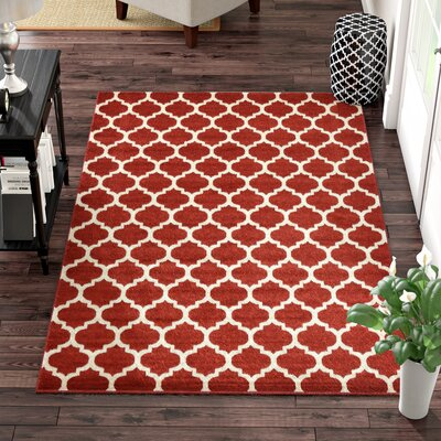 Moore Red Area Rug Rug Size: Rectangle 10 x 14