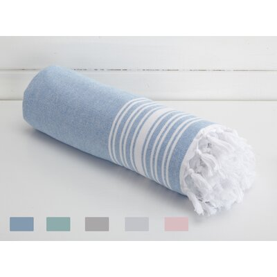 Kidd Blossom Linens Beach Towel Color: Blue