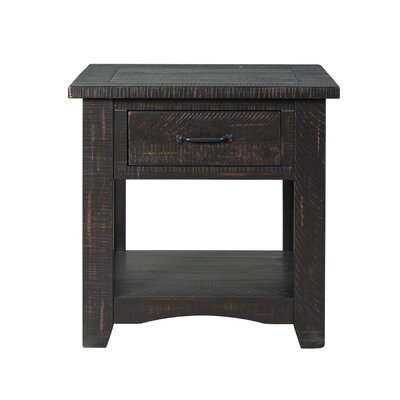 Hassinger End Table Color: Antique Black