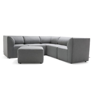 Big Joe Patio Sectional With Cushions Color: Gray