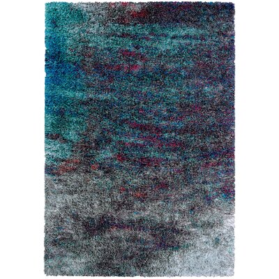 Pangburn Twilight Gray/Turquoise Area Rug Rug Size: Rectangle 53 x 76
