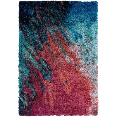 Pangburn Sunset Red/Turquoise Area Rug Rug Size: Runner 22 x 76