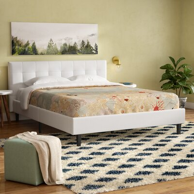 Molinaro Upholstered Platform Bed Size: Queen, Color: White