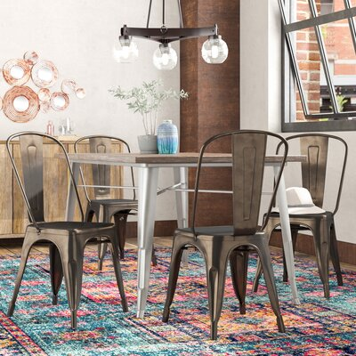 Dunton Side Chair Color: Gunmetal