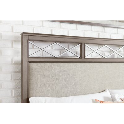 Whicker Upholstered Platform Headboard Size: King; California King