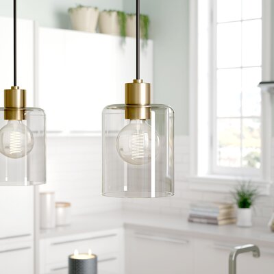 Beachmere 1-Light Mini Pendant Finish: Aged Brass