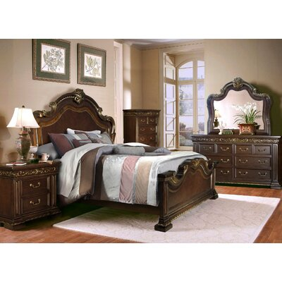 Delmon King Platform 4 Piece Bedroom Set