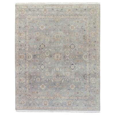 Portchester Medallion Hand-Knotted Wool Tan Area Rug Rug Size: Rectangle 6 x 9