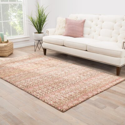 Sitkin Geometric Hand-Knotted Brown Area Rug Rug Size: Rectangle 2 x 3