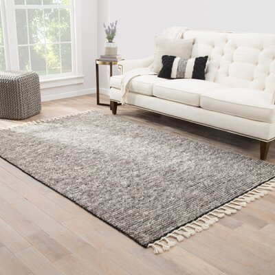 Portofino Hand-Knotted Gray Area Rug Rug Size: Rectangle 5 x 8