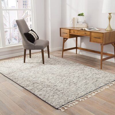 Portofino Stripe Hand-Knotted Gray Area Rug Rug Size: Rectangle 5 x 8