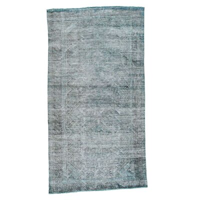 One-of-a-Kind Cerie Overdyed Vintage Hand-Knotted Area Rug