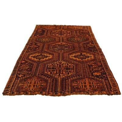 One-of-a-Kind Grasmere Overdyed Shiraz Vintage Oriental Hand-Knotted Area Rug