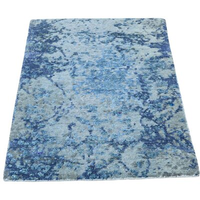 One-of-a-Kind Edelstein Abstract Oriental Hand-Knotted Silk Area Rug