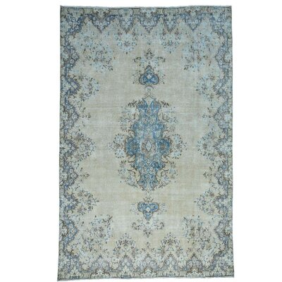 Kerman Oriental Hand-Knotted Gray Area Rug