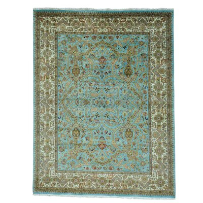 One-of-a-Kind Samons Revival Oriental Hand-Knotted Area Rug