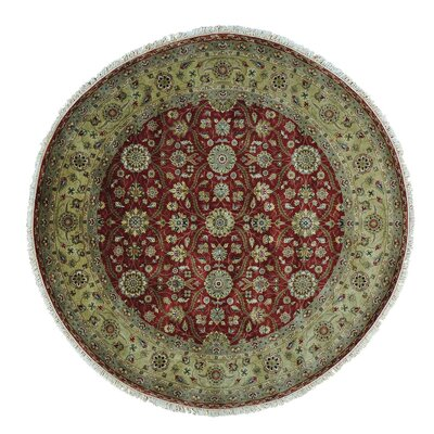 Hereke 300 KPSI Oriental Hand-Knotted Silk Red Area Rug