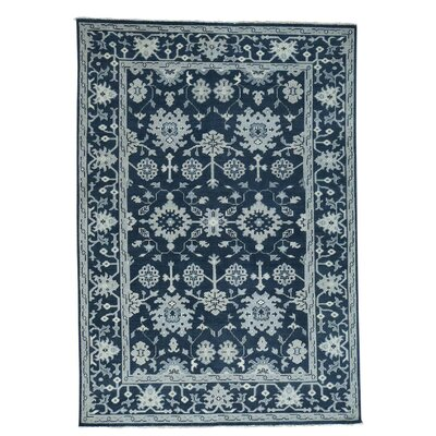 One-of-a-Kind Organ Knot Oushak Cropped Hand-Knotted Area Rug