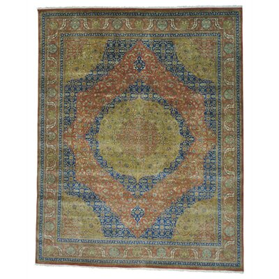 One-of-a-Kind Samons Vegetable Dyes 300 KPSI Hand-Knotted Area Rug