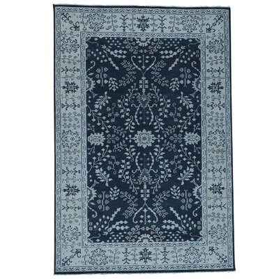 One-of-a-Kind Organ Knot Oushak Sarouk Oriental Hand-Knotted Area Rug