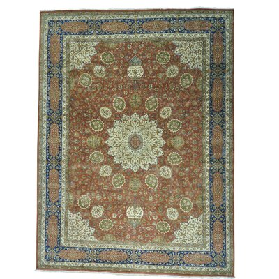 One-of-a-Kind Samons 300 KPSI Fine Safi Oriental Hand-Knotted Area Rug