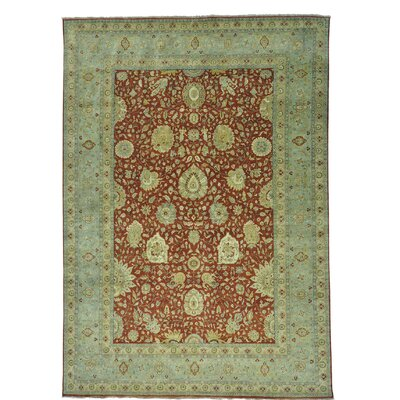 One-of-a-Kind Samons Lamani 300 KPSI Oriental Hand-Knotted Area Rug
