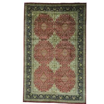 One-of-a-Kind Salzer Revival 300 KPSI Oriental Hand-Knotted Area Rug