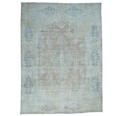 Kerman Oriental Hand-Knotted Brown Area Rug