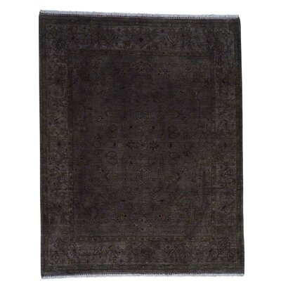 Overdyed Rajasthan Oriental Hand-Knotted Purple Area Rug