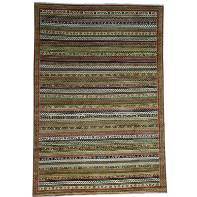 Afghan Ersari Oriental Hand-Knotted Beige/Red Area Rug