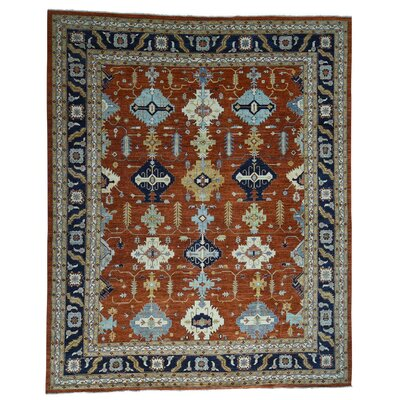 Afghan Ersari Oriental Hand-Knotted Orange Area Rug