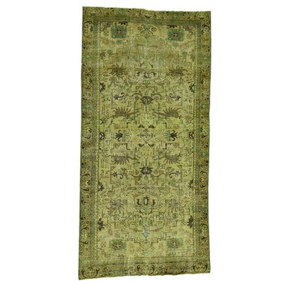 One-of-a-Kind Samons Overdyed Oriental Hand-Knotted Area Rug