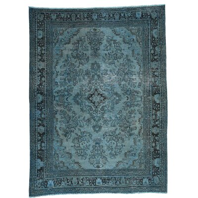 One-of-a-Kind Edford Overdyed Bibikabad Vintage Hand-Knotted Area Rug