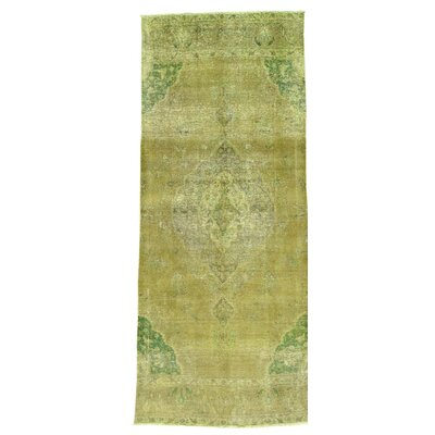 One-of-a-Kind Greenawalt Overdyed Vintage Oriental Hand-Knotted Area Rug