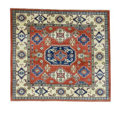 One-of-a-Kind Tilomar Squarish Geometric Oriental Hand-Knotted Area Rug