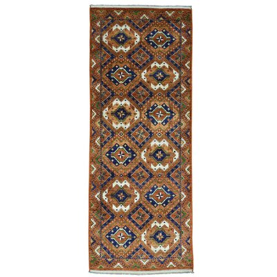 Gallery Afghan Ersari Oriental Hand-Knotted Red Area Rug