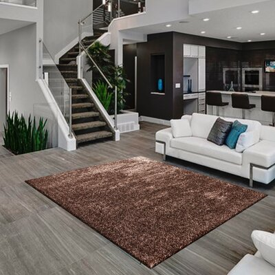 Meadows Hand-Tufted Brown Area Rug