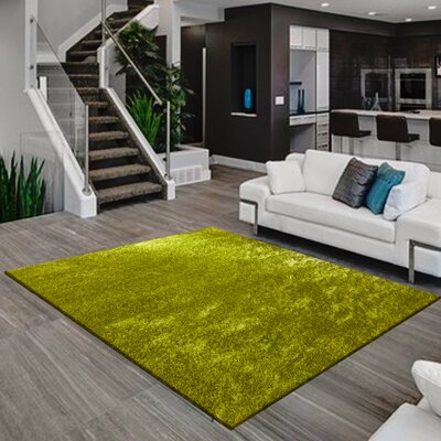 Meadows Hand-Tufted Lime Green Area Rug
