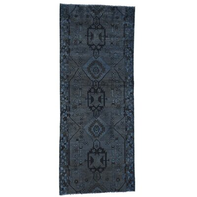 One-of-a-Kind Lear Overdyed Hamadan Vintage Hand-Knotted Area Rug