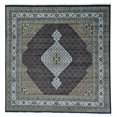 One-of-a-Kind Salmons Mahi All Over Oriental Hand-Knotted Silk Area Rug